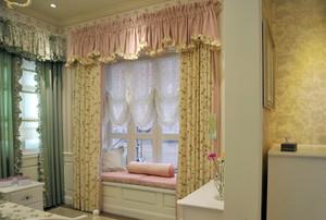韩式田园卧室布艺窗帘装修效果图