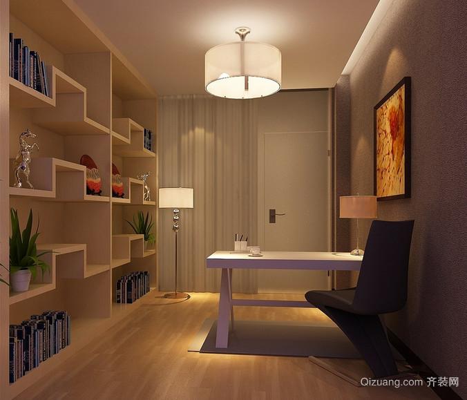 现代大户型精致的书房书架装修效果图