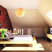 100平米温馨色调卧室装修效果图