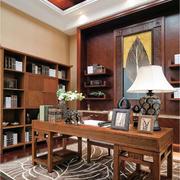 别墅书房实木简约书桌