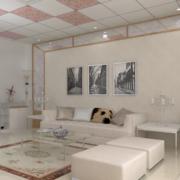 现代欧式别墅型功能沙发背景墙装修效果图