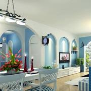 别墅客厅电视背景墙