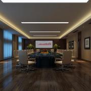暖色调会议室图