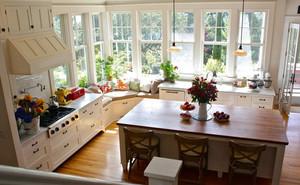 大户型别墅田园风格厨房装修效果图片