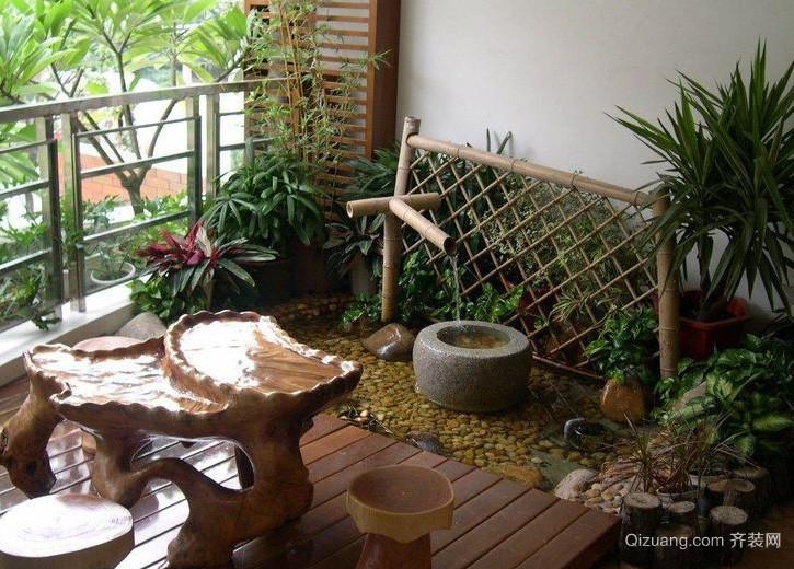 三居室环境优美入户花园装修效果图