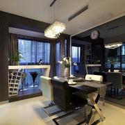 都市个性家居餐厅吧台设计装修效果图