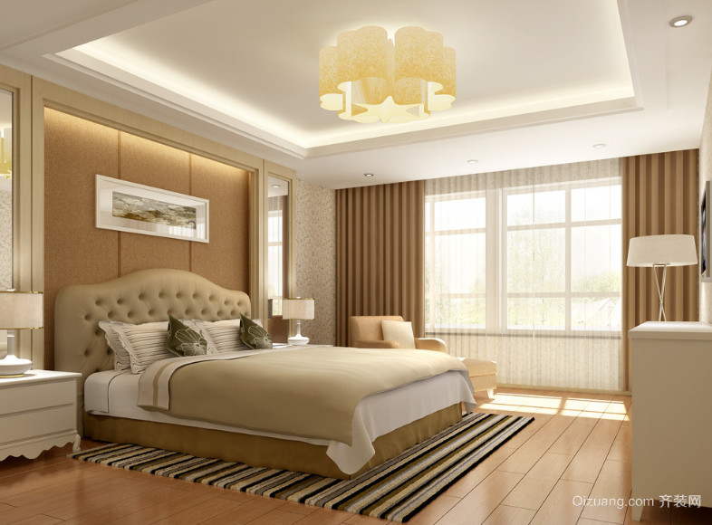 欧式大户型室内卧室装修效果图实例欣赏