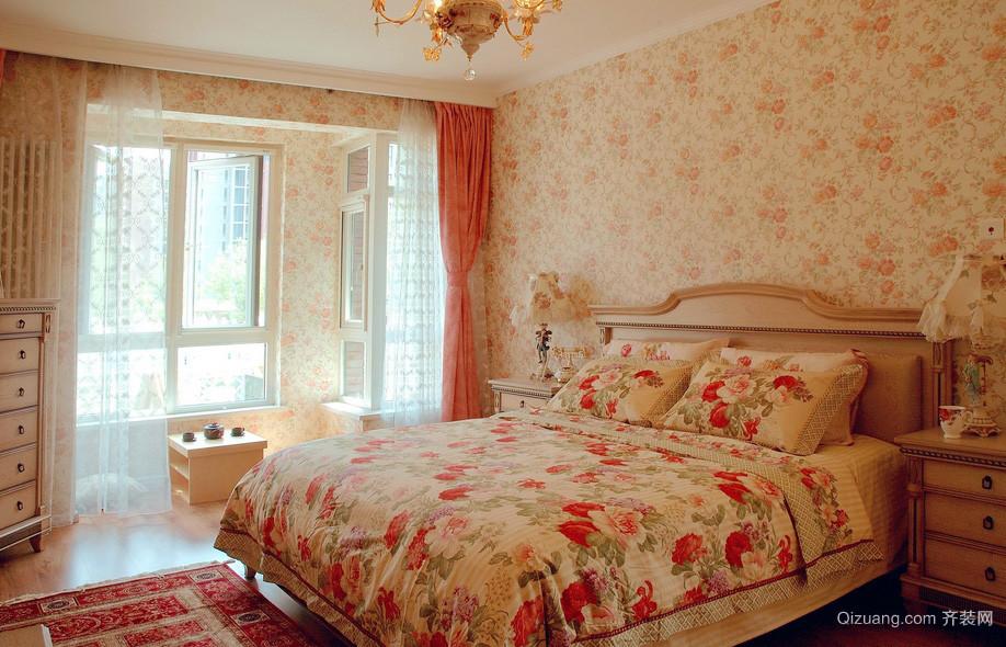 108平米田园风格卧室装修效果图片
