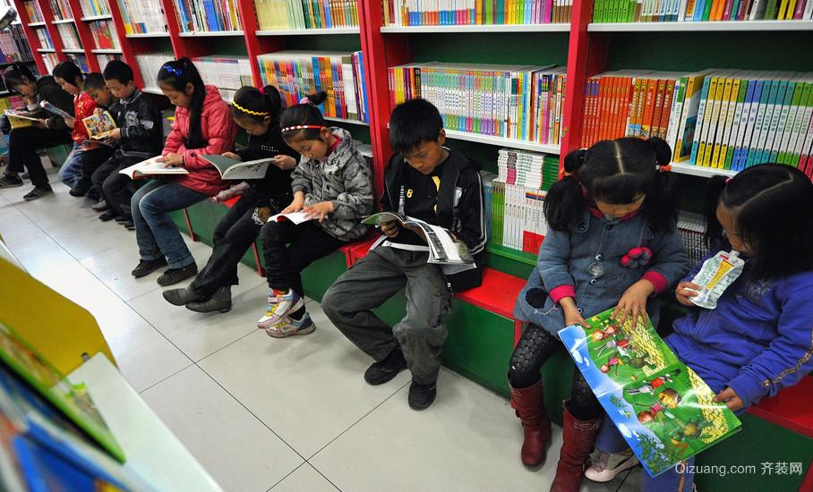 学校旁书店设计装修效果图