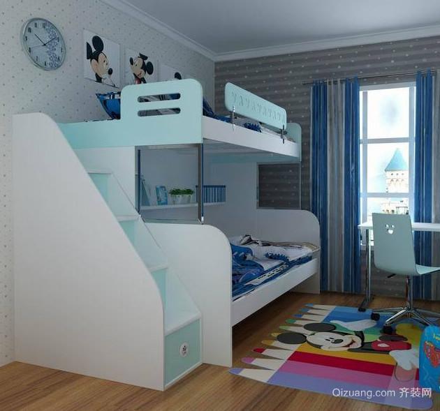 大户型欧式儿童房高低床装修效果图实例