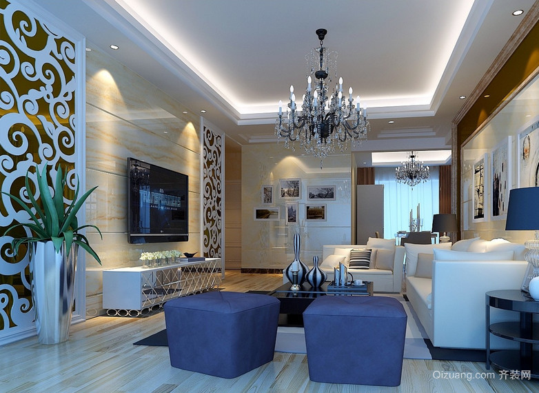 大户型现代主义风格客厅装修效果图鉴赏