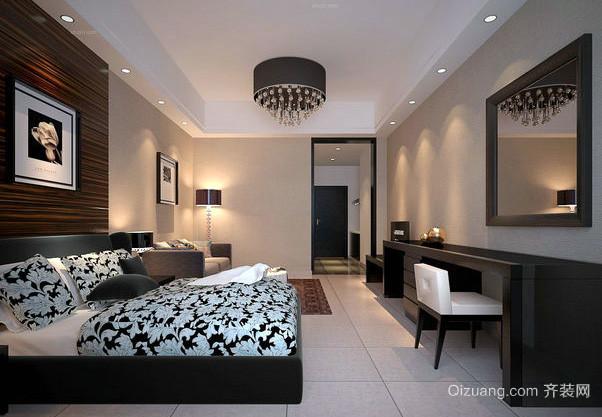 田园风格单身公寓卧室装修效果图
