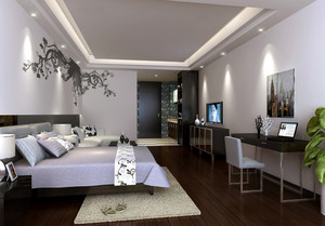 70平米简约风格单身公寓装修效果图