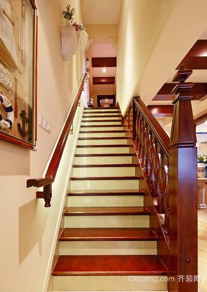现代大户型室内实木楼梯装修效果图鉴赏