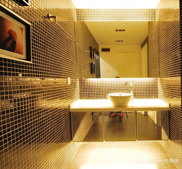 欧式大户型卫生间萨米特瓷砖背景墙装修效果图