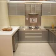 欧式三居室不锈钢橱柜装修效果图实例