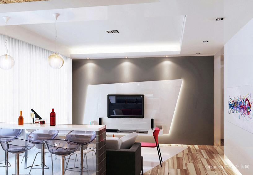 现代简约客厅吧台隔断设计装修效果图