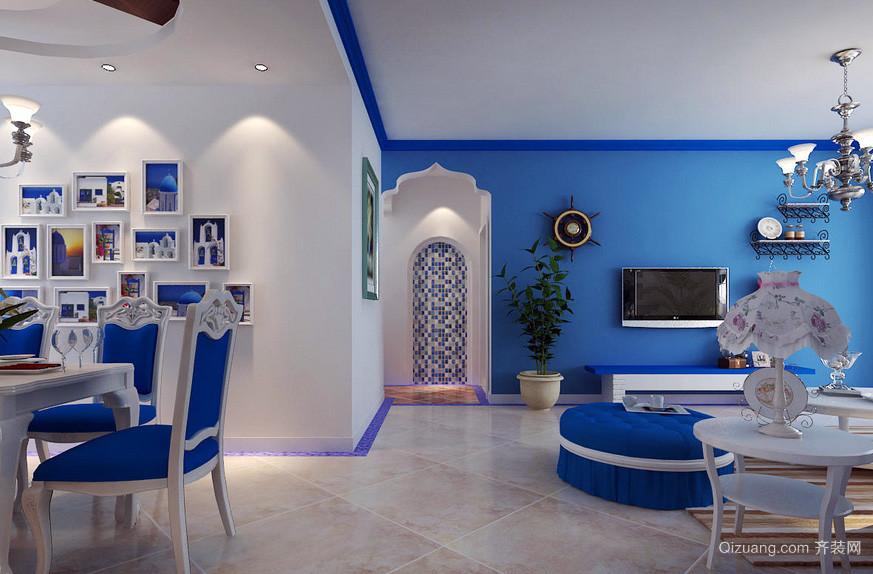 地中海200平米别墅装修设计效果图