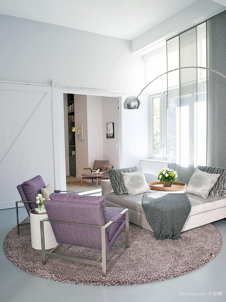 唯美英伦田园风格两层别墅装潢设计效果图