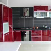 宜家大户型厨房不锈钢橱柜效果图