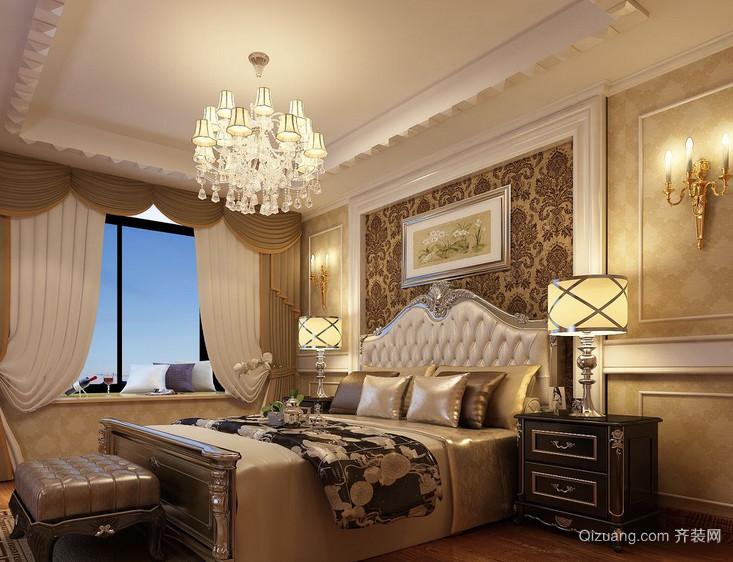 欧式大户型卧室床头背景墙装修效果图鉴赏