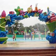 大型广场儿童游乐场进门装饰效果图