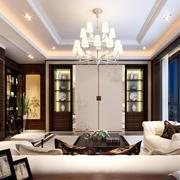 欧式风格别墅客厅落地窗装饰