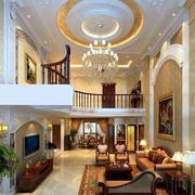 大型别墅奢华欧式风格客厅吊顶装饰