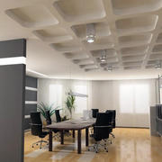 简约风格会议室石膏板吊顶装饰