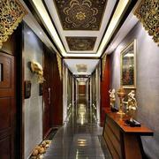东南亚风格奢华会所背景墙装饰