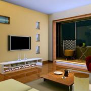 复式楼简约风格新房客厅电视背景墙装饰