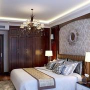 美式简约风格卧室整体简约衣柜装修效果图