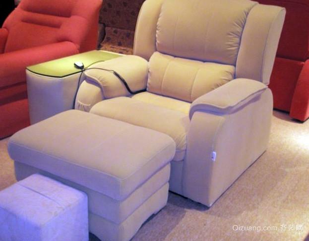 小型养生会所现代简约风格足疗沙发装修效果图