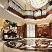 欧式原木奢华别墅客厅装饰
