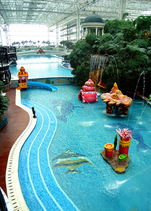 欧式奢华风格卡通系儿童游泳池装修效果图