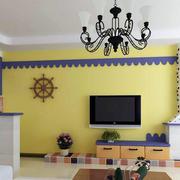 地中海简约风格客厅吊顶装饰