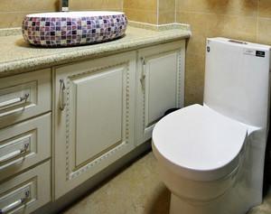 欧式田园风格新房卫生间装修效果图