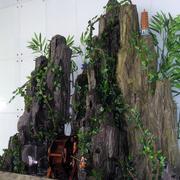 大户型中式风格复式楼小型家装假山盆景效果图