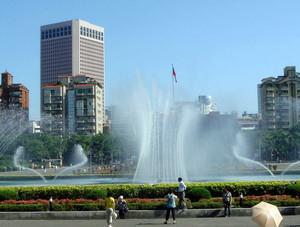 大型时代生活广场音乐喷泉装修效果图