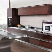 复式楼现代风格开放式不锈钢橱柜装修效果图