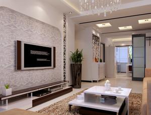 后现代风格深色系新房客厅装修效果图