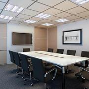 现代简约风格会议室电视背景墙装饰