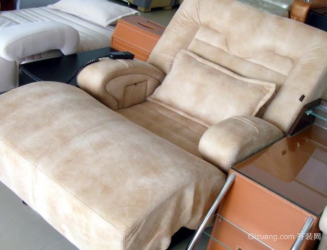 50平米浅色清新足疗沙发装修效果图
