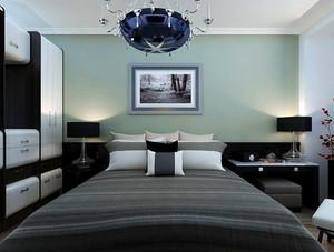 后现代风格奢华卧室床头背景墙装修效果图