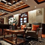 东南亚风格会所休息室装饰