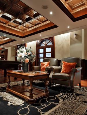 东南亚风格深色系奢华休息会所装修效果图