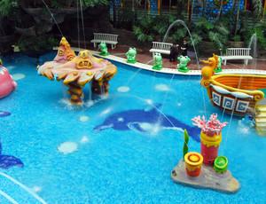 大型欧式娱乐场所儿童游泳池装修效果图