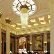 六星级欧式酒店吊顶装修设计效果图
