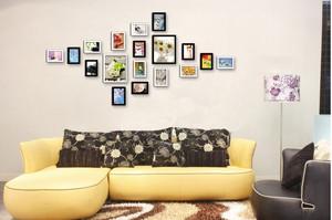 60平米客厅沙发背景照片墙设计效果图
