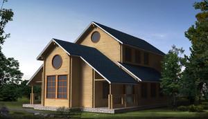 创新型实木别墅装修效果图